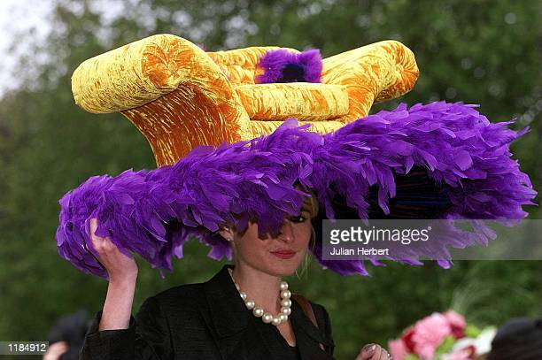 Race goers arrive at Ascot on Ladies Day the third day of The Royal Meeting at the Berkshire track Mandatory Credit Julian Herbert/ALLSPORT