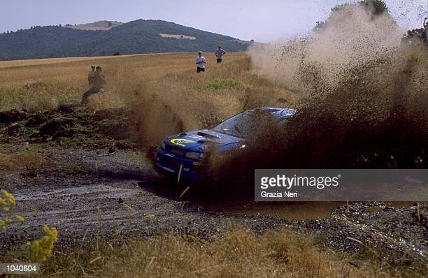 Richard Burns of Scotland in his Subaru Impreza during the Acropolis Rally in Greece Photo by Germano Gritti Mandatory Credit Grazia Neri /Allsport