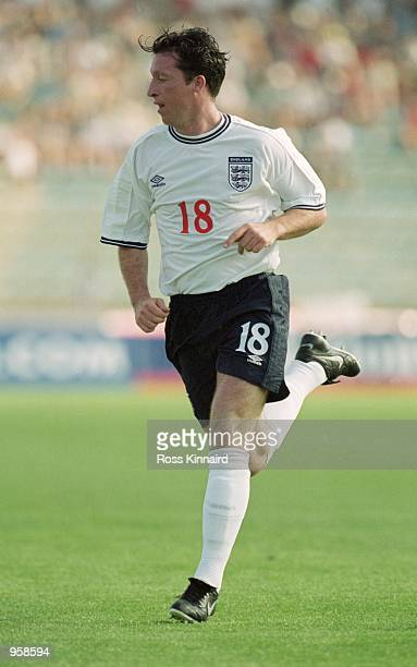Robbie Fowler of England in action during the International Friendly match against Malta played at the Ta'' Qali National Stadium in Ta'' Qali Malta...