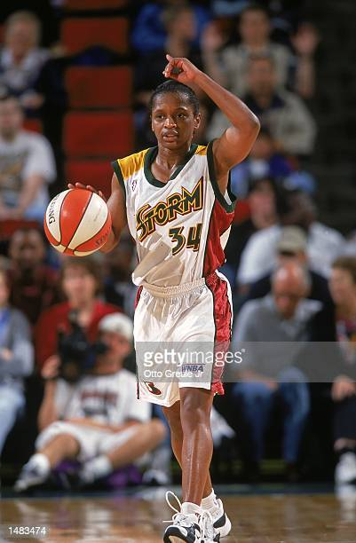 Sonja Henning of the Seattle Storm in action during the game against the Utah Starzz at Key Arena in Seattle Washington The Starzz defeated the Storm...