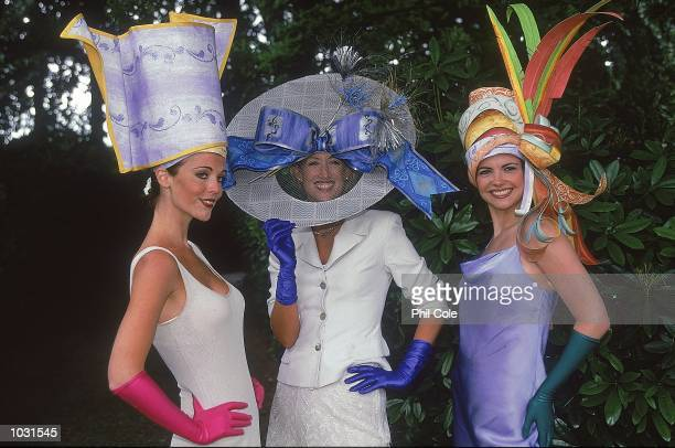 Spectators show off their hats on Ladies Day during the Royal meeting at Ascot in England. \ Mandatory Credit: Phil Cole /Allsport