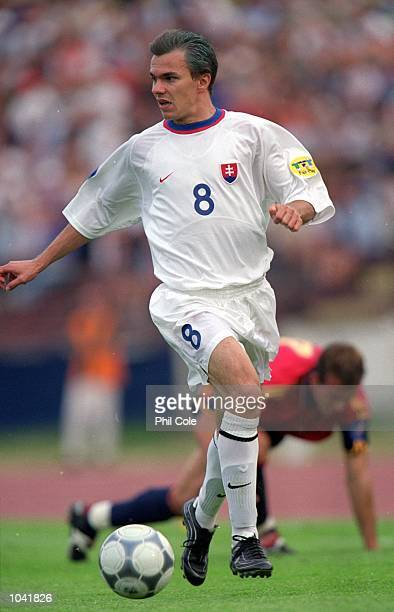 Szilard Nemeth of Slovakia in action during the European Under21 Championships 2000 third place playoff against Spain at the Inter Stadium in...