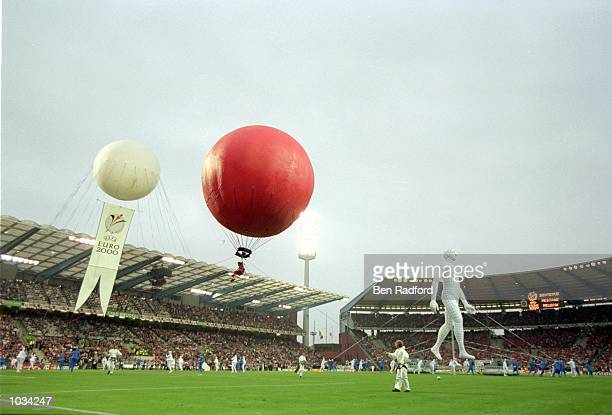 The opening ceremony before the European Championships 2000 group match between Belgium and Sweden at the King Baudouin Stadium in Brussels, Belgium....