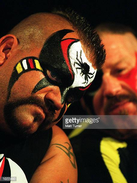The''Road Warriors'' at the WCW Super Stars of Wrestling press conference at Darling Harbour Sydney Australia Mandatory Credit Matt Turner/ALLSPORT