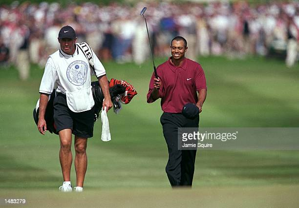 Tiger Woods walks up to the 18th hole during the 100th US Open at the Pebble Beach Golf Links in Pebble Beach CaliforniaMandatory Credit Jamie Squire...