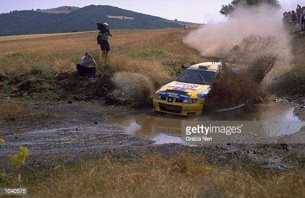 Toni Gardemeister of Finland in his Seat Cordoba during the Acropolis Rally in Greece Photo by Germano Gritti Mandatory Credit Grazia Neri /Allsport