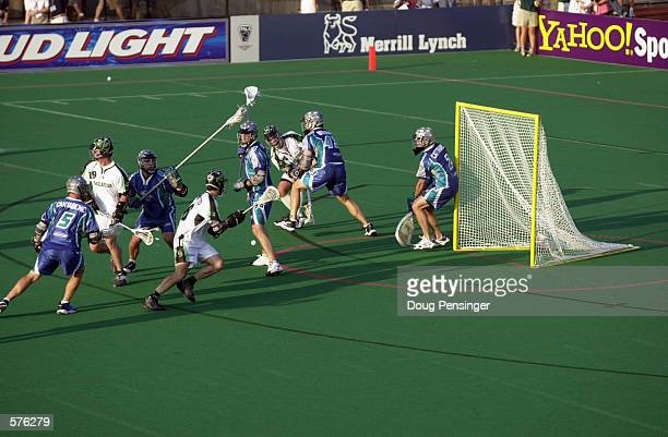 A general view of a Major League Lacrosse game between the Baltimore Bayhawks and the Long Island Lizards on Homewood Field at John Hopkins...