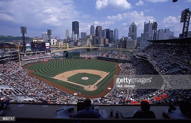 General view of the game between the Montreal Expos and the Pittsburgh Pirates at PNC Park in Pittsburgh, Pennsylvania. The Expos defeated the...