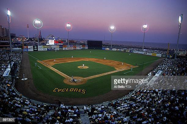 General view of the new Keyspan baseball park marking the return of professional baseball to Brooklyn 44 years after the Dodgers left for Los Angeles...