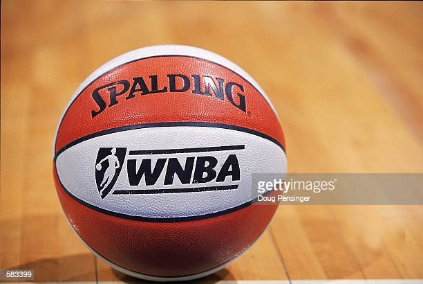 Shot of the WNBA Basket Ball during the game between the Washington Mystics and the Sacramento Monarchs at the MCI Center in Washington, D.C. The...