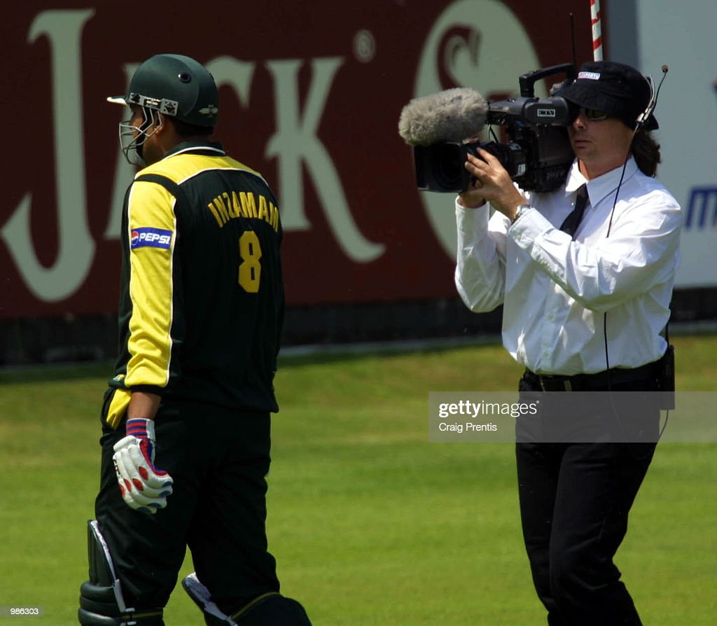 A TV cameraman tracks Inzamam ul-Haq's slow progress back to the pavilion during the Natwest Trophy Final between Australia and Pakistan at Lord's, London. +DIGITAL IMAGE+ Mandatory Credit: Craig Prentis/ALLSPORT