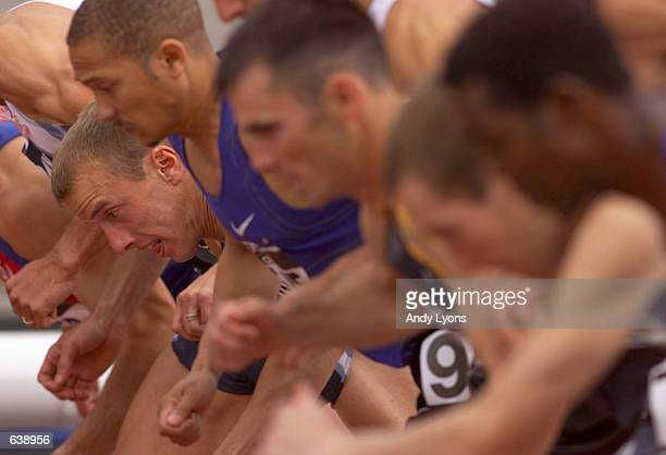 Alan Webb lines up at the start of the 1,500 meter during the USA Outdoor Track & Field Championships at Hayward Field in Eugene, Oregon. DIGITAL...