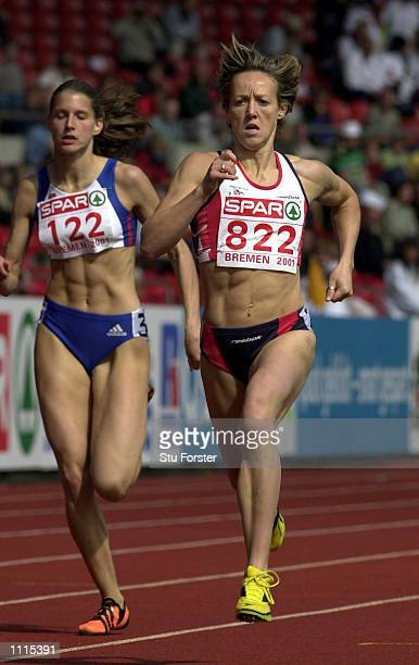 Allison Curbishley of Great Britain in action in the Womens 400m on the First Day of the European Cup Athletics at the Weserstadion in Bremen...