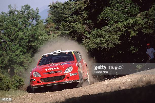Citroen Xara driver Philippe Bugalski of France in action during the Acropolis World Rally Championships in Athens Greece Mandatory Credit Grazia...