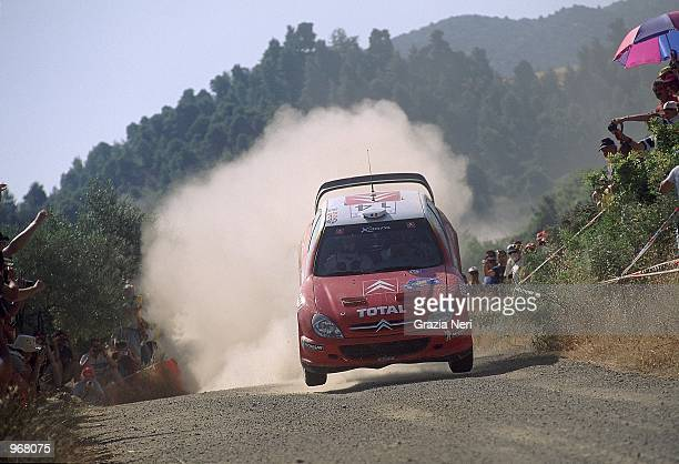 Citroen Xara driver Thomas Radstrom of Sweden in action during the Acropolis World Rally Championships in Athens Greece Mandatory Credit Grazia Neri...