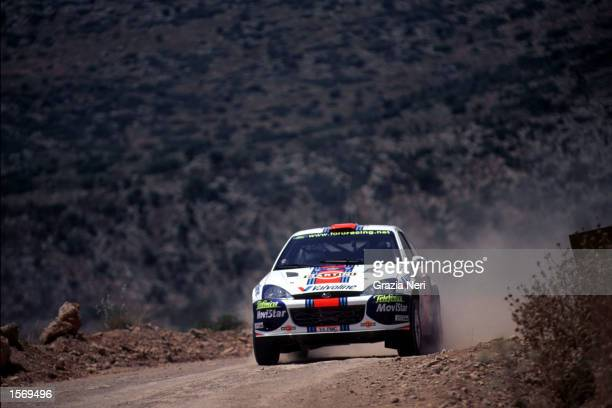 Colin McRae driving the Ford Focus during the Acropolis Rally part of the World Rally Championships in Grecce DIGITAL IMAGE Mandatory Credit Grazia...