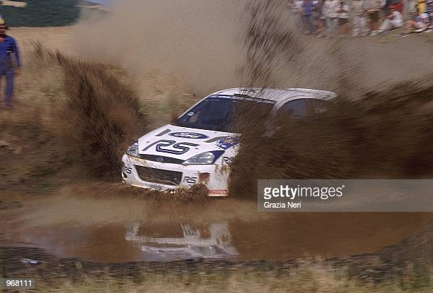 Ford Focus driver Francois Delecour of France in action during the Acropolis World Rally Championships in Athens Greece Mandatory Credit Grazia Neri...