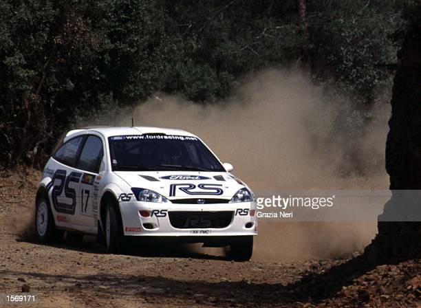 Francois Delecour driving the Ford Focus during the World Rally Championships in Cyprus Germano Gritti / Grazia Neri Mandatory Credit Grazia...