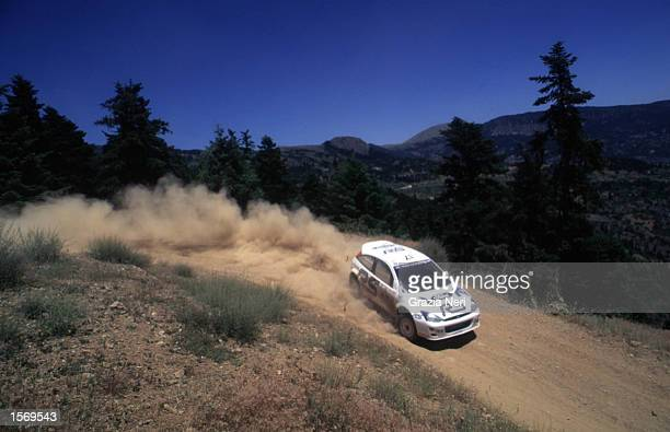 Francois Delecour driving the Ford Focus during the World Rally Championships in Cyprus DIGITAL IMAGE Mandatory Credit Grazia Neri/ALLSPORT