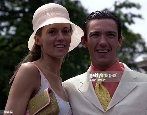 Frankie Dettori and his wife Catherine arrive at Ascot for the first day of The Royal Meeting DIGITAL IMAGE Mandatory Credit Julian Herbert/ALLSPORT