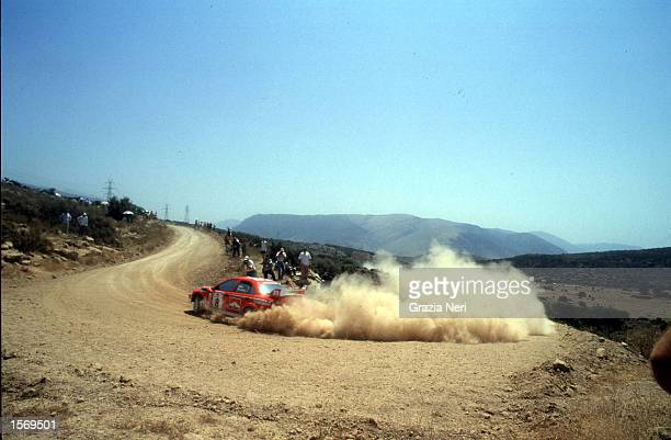 Freddy Loix driving the Marlboro Mitsubishi Lacer evo VI during the Acropolis Rally part of the World Rally Championships in Grecce DIGITAL IMAGE...