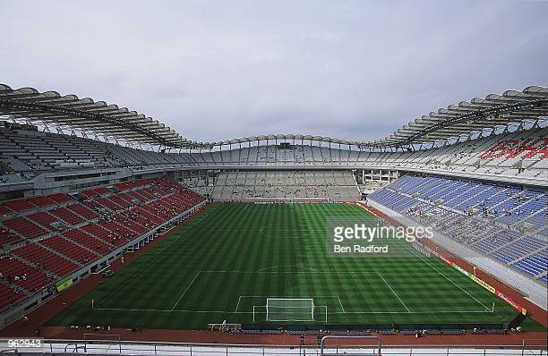 General view of the Ibaraki Prefecture Kashima Soccer Stadium in Ibaraki Japan one of the venues for the 2002 World Cup Mandatory Credit Ben Radford...