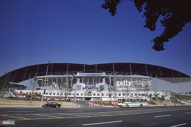 General view of the Suwon World Cup Stadium in Suwon, Korea, one of the venues for the 2002 World Cup. \ Mandatory Credit: Stanley Chou /Allsport