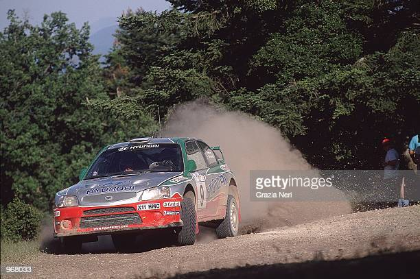 Hyundai Accent driver Kenneth Eriksson of Sweden in action during the Acropolis World Rally Championships in Athens Greece Mandatory Credit Grazia...