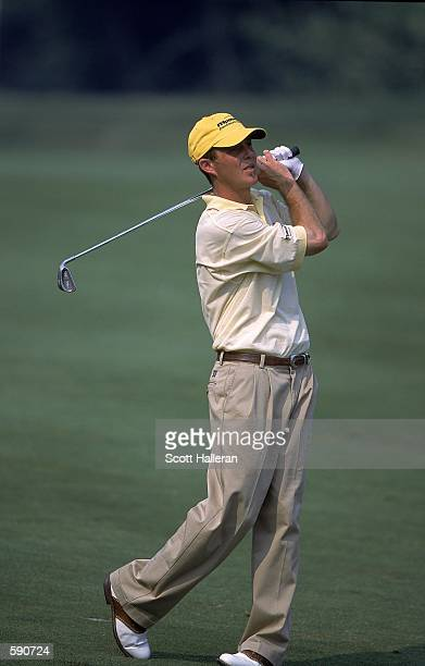 Jonathan Kaye follows his swing during the Canon Greater Hartford Open at TPC River Highlands in Cromwell ConnecticutMandatory Credit Scott Halleran...