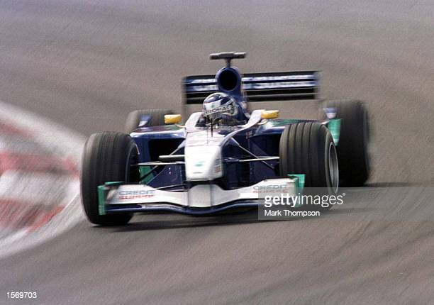Kimi Raikkonen of Finland and Sauber during the fourth free practice session for the European Grand Prix at the Nurburgring Germany Mandatory Credit...