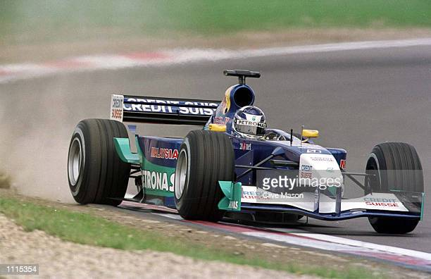 Kimi Raikkonen of Finland and Sauber during the qualifying session for the European Grand Prix at the Nurburgring Germany Mandatory Credit Clive...