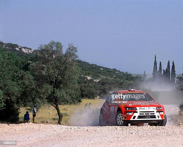 Macaluso driving the Fiat Punto during the Acropolis Rally part of the World Rally Championships in Grecce DIGITAL IMAGE Mandatory Credit Grazia...