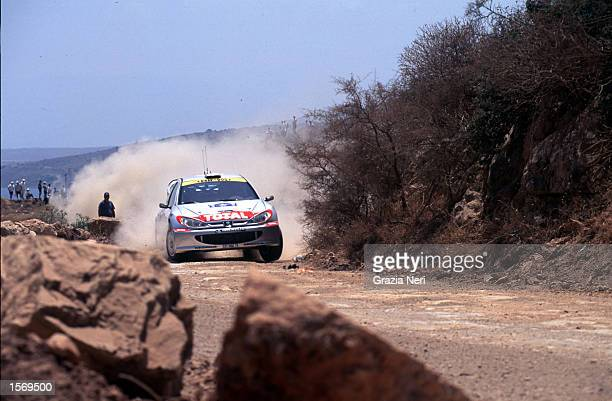 Marcus Gronholm driving the Peugeot 206 during the Acropolis Rally part of the World Rally Championships in Grecce DIGITAL IMAGE Mandatory Credit...
