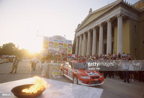 Mitsubishi Lancer driver Freddy Loix of Belgium in action during the Acropolis World Rally Championships in Athens Greece Mandatory Credit Grazia...