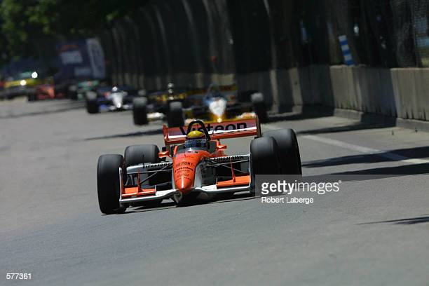 Mo Nunn Racing driver Roberto Moreno drives his Toyota Reynard during the Tenneco Automotive Grand Prix of Detroit round 7 of the CART FedEx...