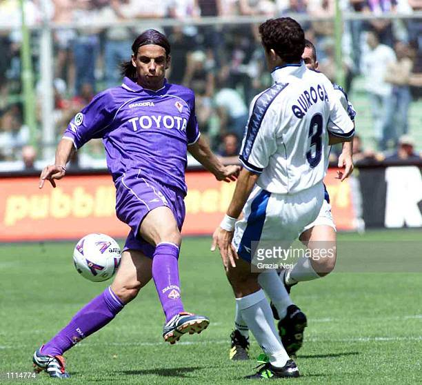 Nuno Gomes of Fiorentina in action during the Serie A 34th Round League match between Fiorentina and Napoli, played at the Artemio Franchi Stadium,...