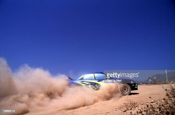 Petter Solberg driving the Subaru Impreza during the Acropolis Rally part of the World Rally Championships in Grecce DIGITAL IMAGE Mandatory Credit...