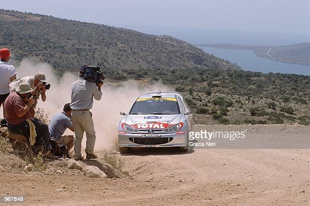 Peugeot 206 driver Marcus Gronholm of Finland in action during the Acropolis World Rally Championships in Athens Greece Mandatory Credit Grazia Neri...
