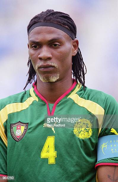 Portrait of Rigobert Song of Cameroon before the start of the FIFA Confederations Cup Match against Japan at the Niigata Stadium in Niigata Japan...
