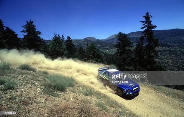 Richard Burns driving the Subaru Impreza during the World Rally Championships in Cyprus DIGITAL IMAGE Mandatory Credit Grazia Neri/ALLSPORT