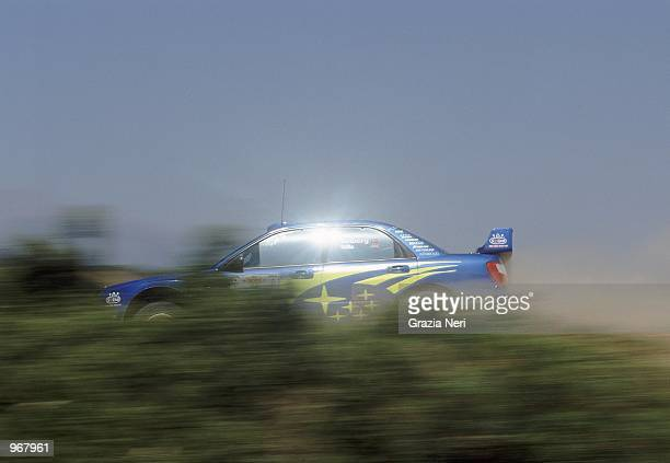 Subaru Impreza driver Petter Solberg of Norway in action during the Acropolis World Rally Championships in Athens Greece Mandatory Credit Grazia Neri...