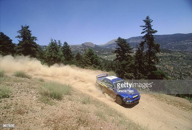 Subaru Impreza driver Richard Burns of Great Britain in action during the Acropolis World Rally Championships in Athens Greece Mandatory Credit...