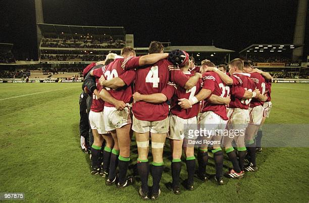 The British Lions team huddle before the Tour Match against Western Australia at the WACA in Perth Australia The Lions won 11610 Mandatory Credit...