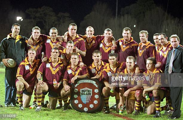 The Country team celebrate their win over City during the ARL match played between City and Country held at Carrington Park Bathurst New South Wales...