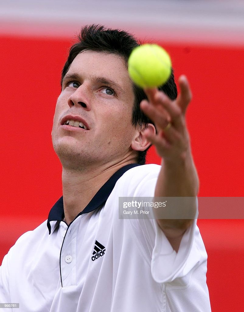 Tim Henman of Great Britain on his way to victory over Wayne Arthurs of Australia during the third round of the Stella Artois Championships at Queen's Club, London. +DIGITAL IMAGE+ Mandatory Credit: Gary M. Prior/ALLSPORT