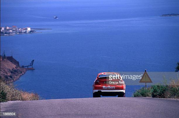 Tommi Makinen driving the Marlboro Mitsubishi Lacer evo VI during the Acropolis Rally part of the World Rally Championships in Grecce DIGITAL IMAGE...