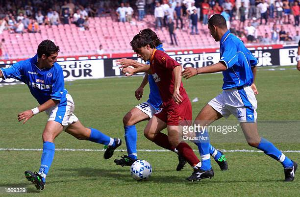 Vincenzo Montella of Roma in action during the Serie A 33rd Round League match between Napoli and Roma played at the San Paolo Stadium Napoli DIGITAL...