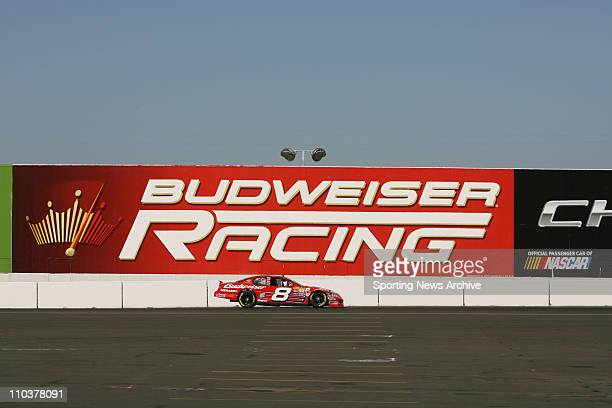 Jun 23 2006 Sonoma CA USA Dale Earnhardt Jr and Budweiser Racing Sign during NCS practice at Infineon Raceway in Sonoma CA