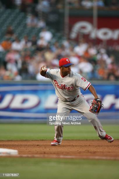 Jun 29 2006 Baltimore MD USA Philadelphia Phillies Abraham Nunez against Baltimore Orioles at Orioles Park at Camden Yards in Baltimore Md The...