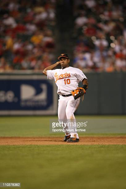 Jun 29 2006 Baltimore MD USA Philadelphia Phillies against Baltimore Orioles Miguel Tejada at Orioles Park at Camden Yards in Baltimore Md The...